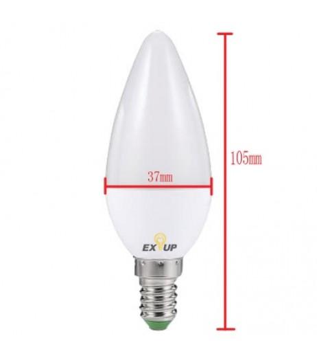C37 LED E14 Candle Bulb 5W 450LM  Warm White Cool White AC 220 - 240V