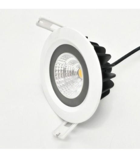 ZDM 4PCS 7W 600 - 650LM IP65 Waterproof White Round LED Ceiling Light Warm White AC 85 - 265V