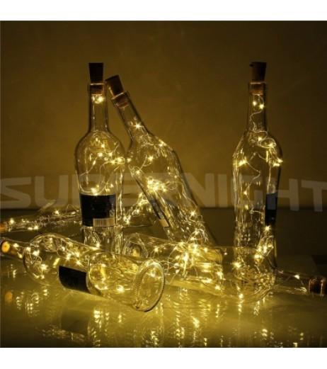 BRELONG 20LED Wine Stopper Brass Lights Decorative Light String