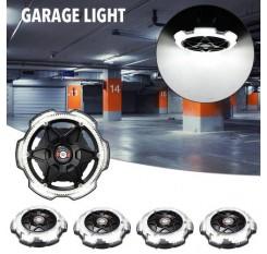 1/2/4x Garage Light Round 5-Head Lighting Ultra-high Brightness E26/E27 Black