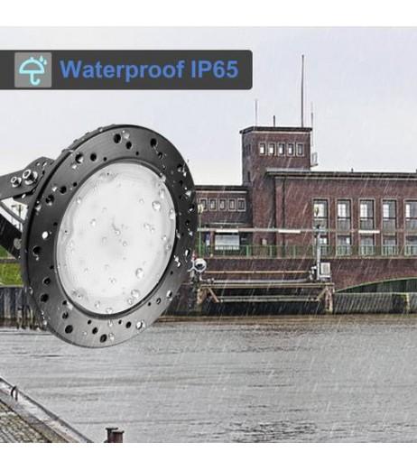 1/2pcs 100W UFO LED High Bay Luminaire Floodlight Spotlight Cool White US