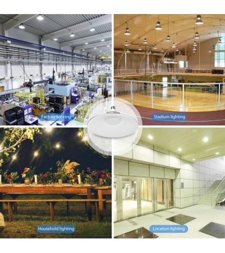 100W LED High Bay Light Warehouse Workshop Garage Lights Cool White UK