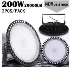 2pcs Ultraslim 200W UFO LED High Bay Light Factory Industrial Warehouse Commercial lighting