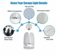 E27 LED Garage Light Bulb 60W Folding Led Garage Light Cool White US