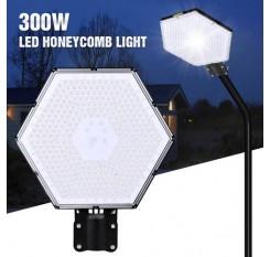 300W UFO LED High Bay Light Floodlight Spotlight Road Light Bracket Cool White