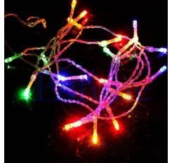 10m 80LED Batterie Lichterkette Wasserdicht Lichter Garten Party Mehrfarbe