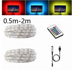0.5M - 2M LED RGB TV Strip 30LED IP65 Wasserdicht+ MINI 24 Key USB Controller
