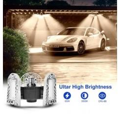 60W Deformable Tri-Fold Lamp LED Adjustable Three Light Garage High Bay Light