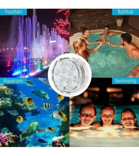1pcs Waterproof LED Diving Lamp Remote Control Decor