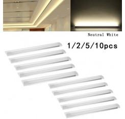 10x 60cm LED Tube Tube Lamp Ceiling Light Bar Fluorescent Tube Neutral White