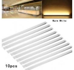 10PCS 120cm LED Tube Tube Ceiling Light Light Bar Fluorescent Tube Warm White