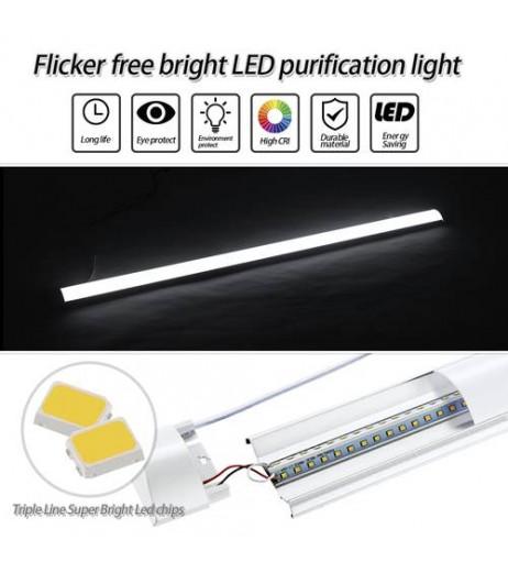 120cm LED Batten Linear Tube Light Ceiling Lamp Natural White 6000K 110V