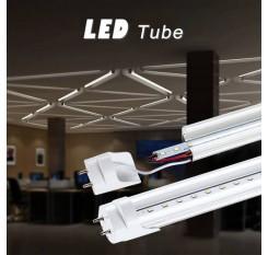 2/4pcs 60cm Transparent T8 Light Tube LED Tube Light Mounted Lamp Warm white AU