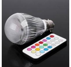 Colorful LED RGB 9W B22 Light Bulb